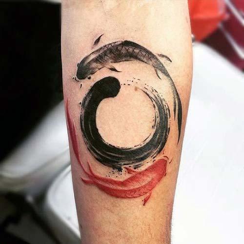 yin yang koi fish tattoos koi balığı dövmeleri
