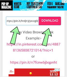 Cara download video di Pinterest