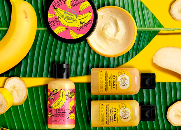 Línea de banana de The Body Shop