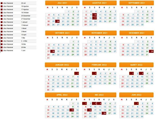 Terbaru Kalender Pendidikan Tahun Pelajaran 2021/2022 Provinsi Papua Barat