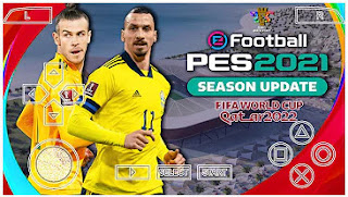 Download eFootball PES 2021 PPSSPP World Cup Qatar 2022 Edition Best Graphics HD & Update New Full Latest Transfer