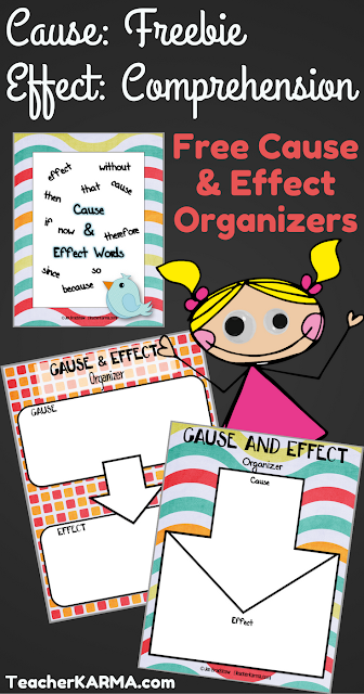 Cause & Effect FREEBIE to Improve Reading Comprehension TeacherKarma.com