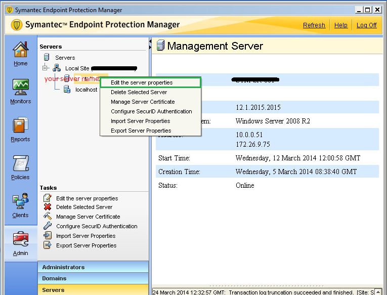 Server Labs: How to integrate SEPM with Active directory