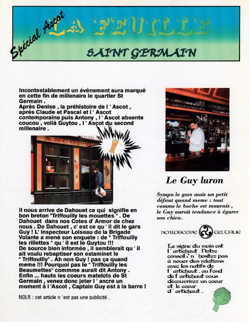 « La feuille Saint-Germain - Spécial Ascot » - Numéro 03 - Septembre 1997