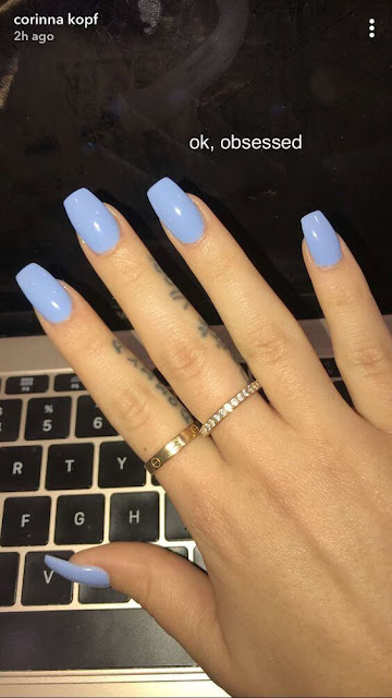 If you are searching for a nail art design with lots of sparkles stickers 26+ Pretty Baby Blue Nail Art Ideas With Rhinestones To Copy In 2019
