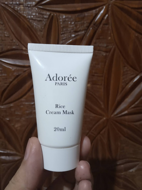 Review Adoree Paris rice Face mask