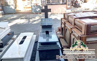 Makam Pusara Granit Hitam, Makam Kristen Granit, Pusara Makam Kristen Marmer