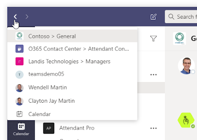 hover%2Bback Microsoft Teams User Tip #27: Hover Over Back to Get 1 Click Access to Previous Locations