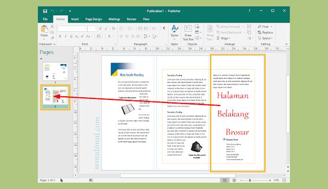 cara membuat brosur menggunakan microsoft publisher