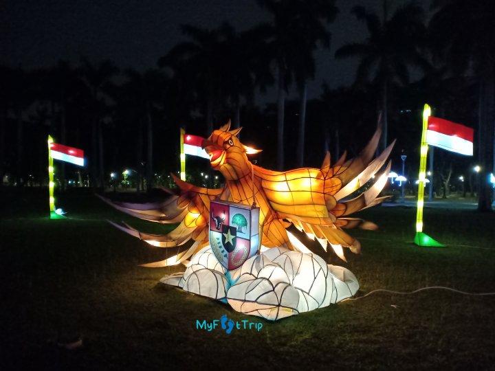 pameran lampu lampion di monas
