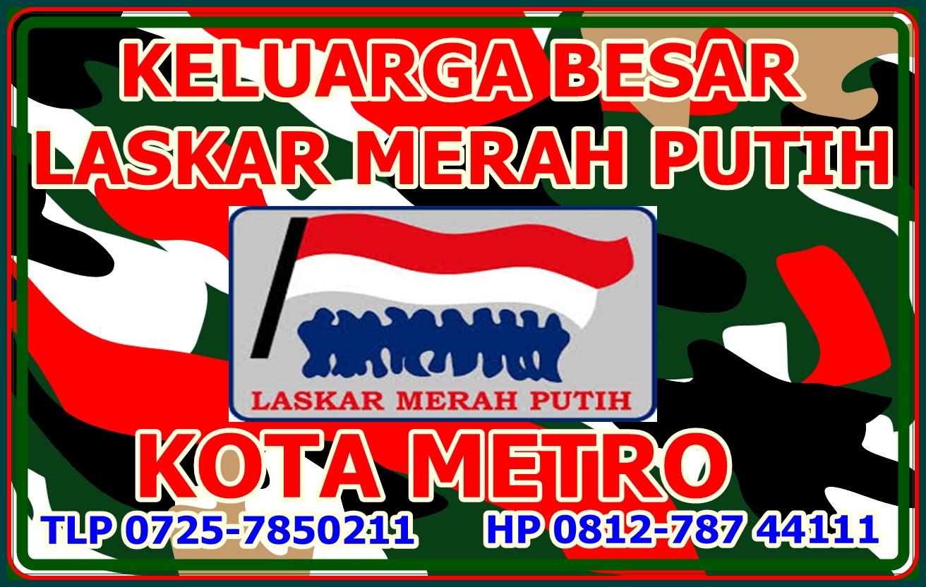 Stiker Kemitraan Aktual Metro Online Laskar Merah Putih