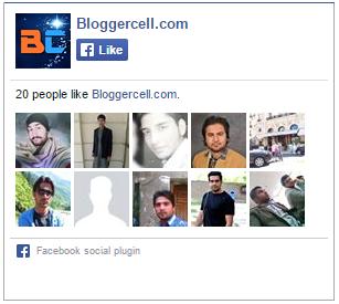 Simple Facebook like Widget for Blogger