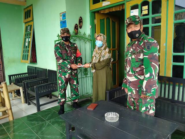 Kasdim 0913/PPU Berikan Dana Sosial Wat Zah Kepada Ahli Waris