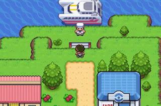 Pokemon Cyan GBA Barco Pokemon Transporte