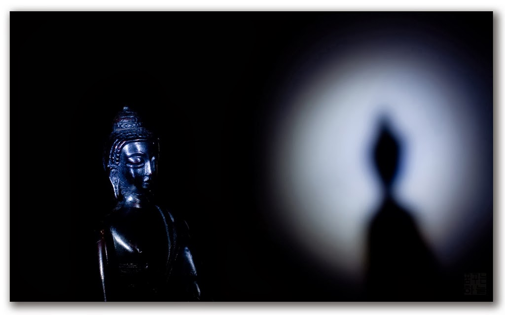 Buddha Yin Yang Dark Light Shadow