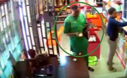 man steals perfume biodun okeowo shop