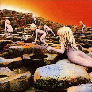 Capa do LP Houses of the Holy, do Led Zeppelin, retratando o Giant's Causeway, Irlanda do Norte