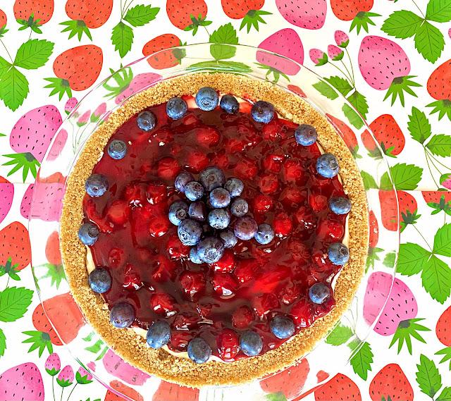 Easy No Bake Cherry Patriotic Dessert