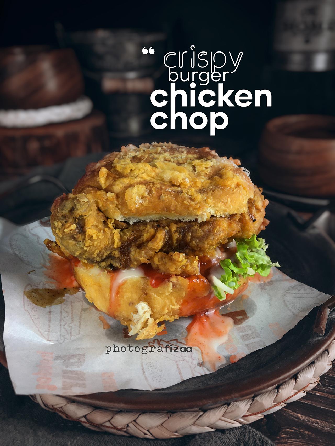Burger Crispy Chicken Chop