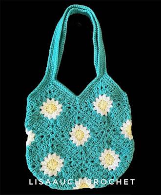 crochet flower square Bag