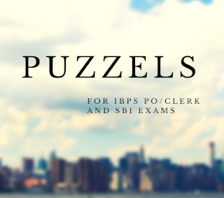 Download Collection of Puzzles for IBPS, SBI PO/SO/Clerk etc Exams in PDF