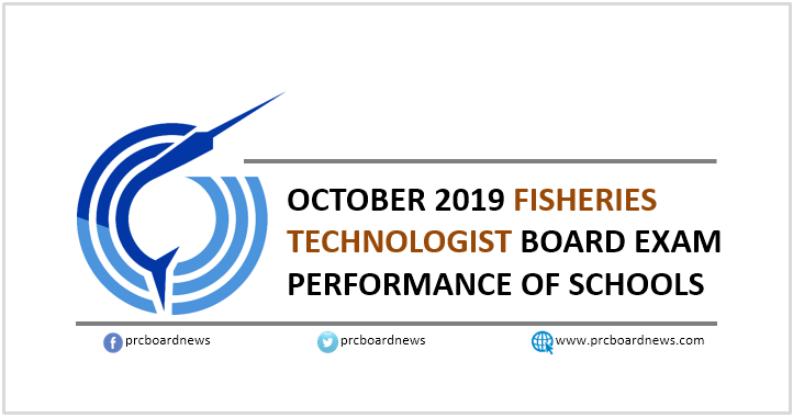 PERFORMANCE OF SCHOOLS: October 2019 Fisheries Technology board exam result