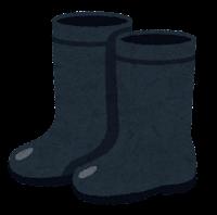長靴のイラスト(黒)