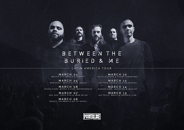 Resultado de imagen para between the buried and me TOUR LATIN AMERICA