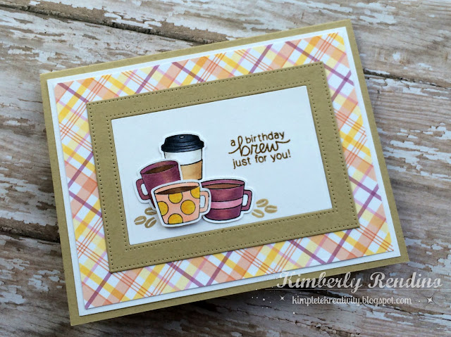 coffee card | coffee lovers blog hop | kimpletekreativity.blogspot.com | handmade card