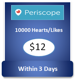 10000 buy Periscope Hearts