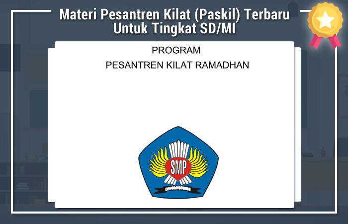 Contoh Program Kerja Pesantren Kilat Ramadhan 2018 Tingkat SMP