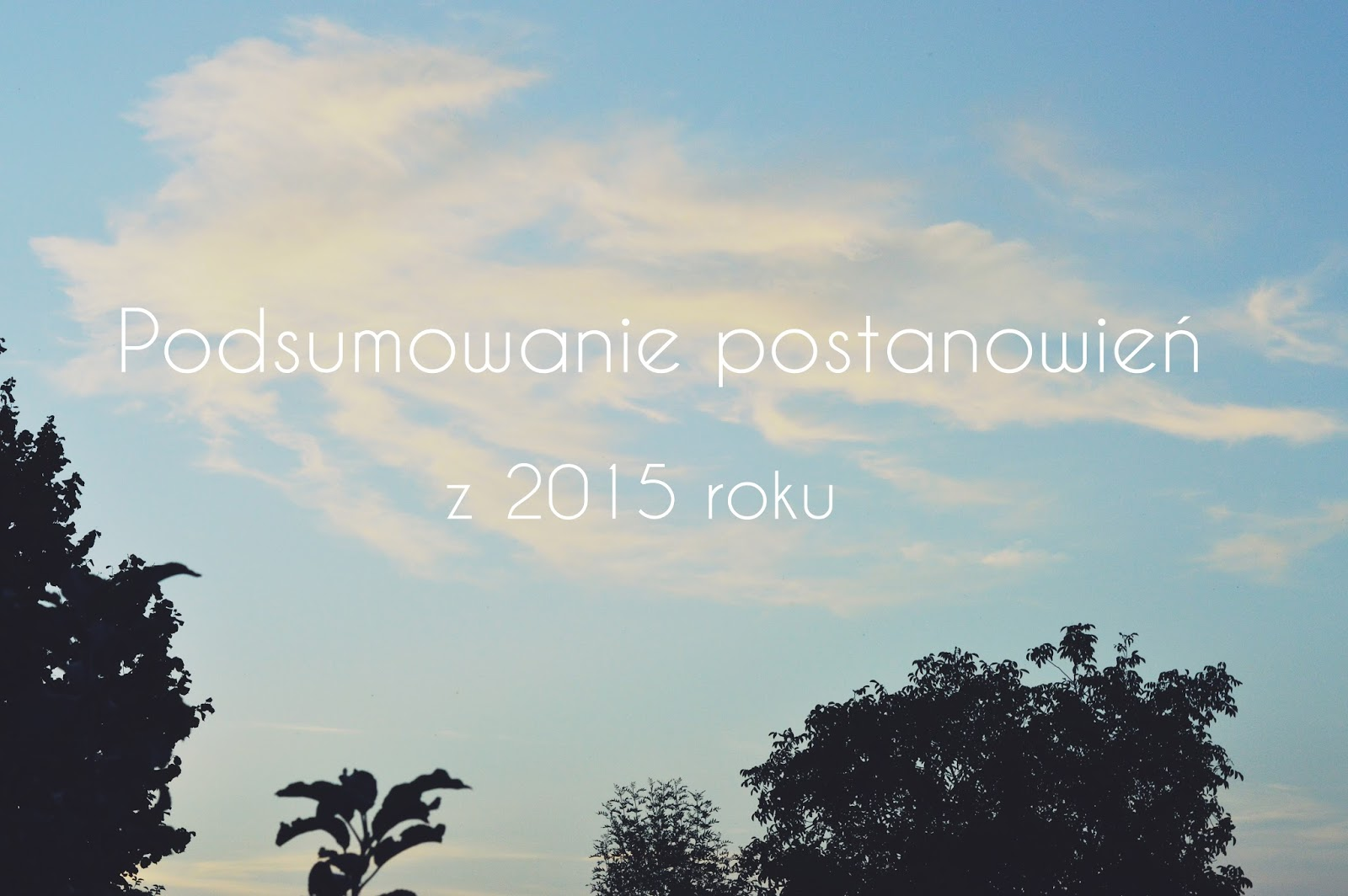 PODSUMOWANIE POSTANOWIEŃ Z 2015 ROKU