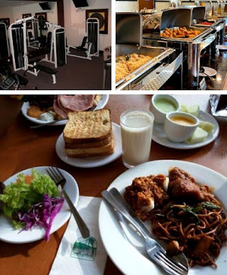 Century Pines Resort gym dan restoran