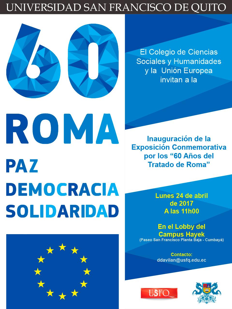 60 Roma, Paz, Democracia, Solidaridad