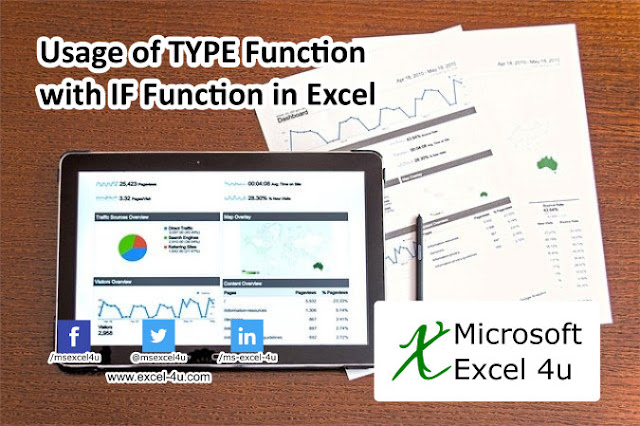 Usage of TYPE Function with IF Function in Excel