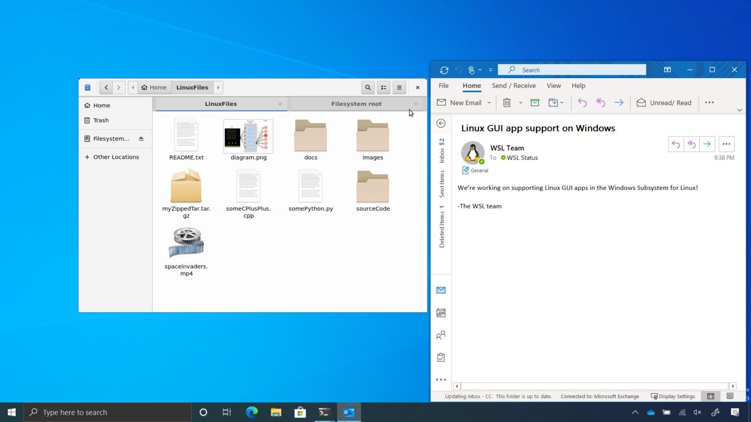 App della GUI di Linux eseguite nativamente in Windows 10