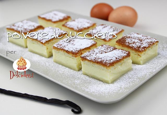magic cake torta magica polvere di zucchero cameo paneangeli dolcidee