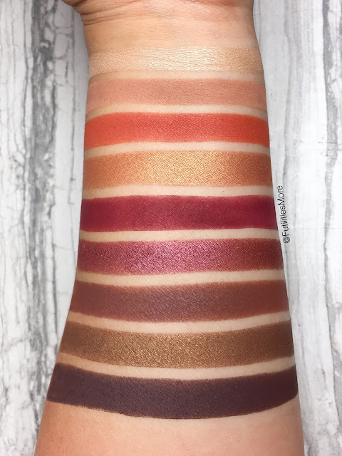 Kylie Cosmetics Burgundy Palette Dupes with Makeup Geek Cosmetics, kyshadow, kylie jenner, dupes, makeup geek swatches, futilitiesmore, futilitiesandmore,