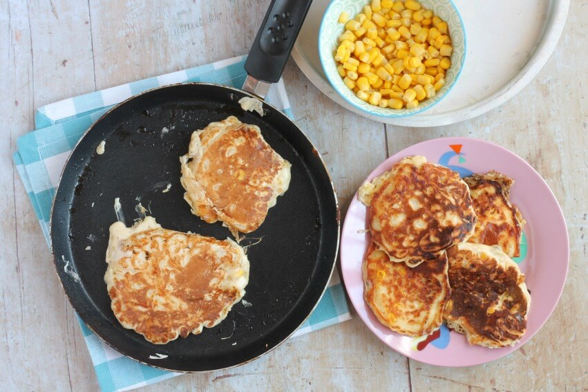 Sweetcorn & Cheddar Fritters