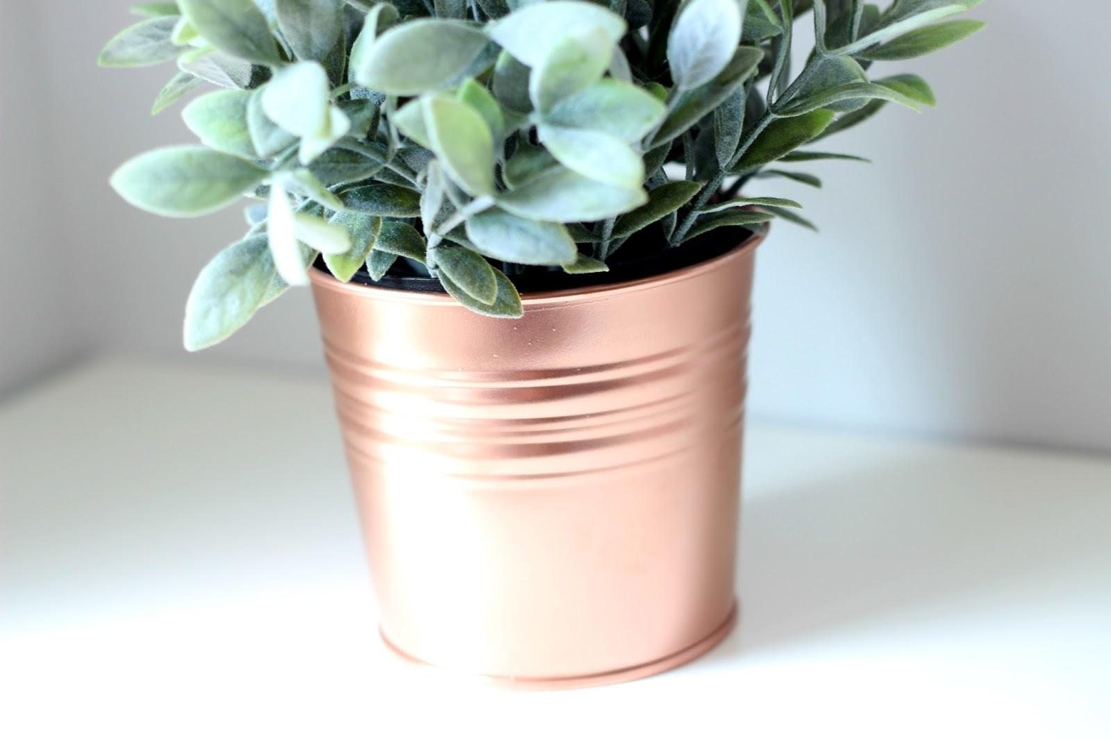 A picture of a DIY Copper Ikea Plant Pot