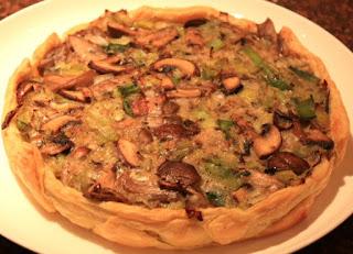 recept; recepten; hartige taart; quiche; hoofdgerecht; hoofdgerechten; prei; champignons; paddenstoelen; vegetarisch; tapas; voorgerecht;