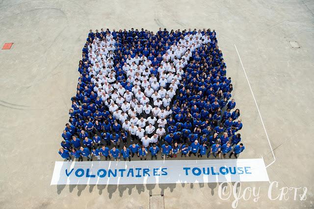 Photo de groupe des volontaires de Toulouse EURO 2016
