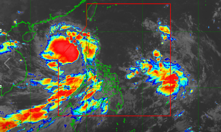 Satellite image of Tropical Depression 'Jenny' as of 4:40 am, August 28