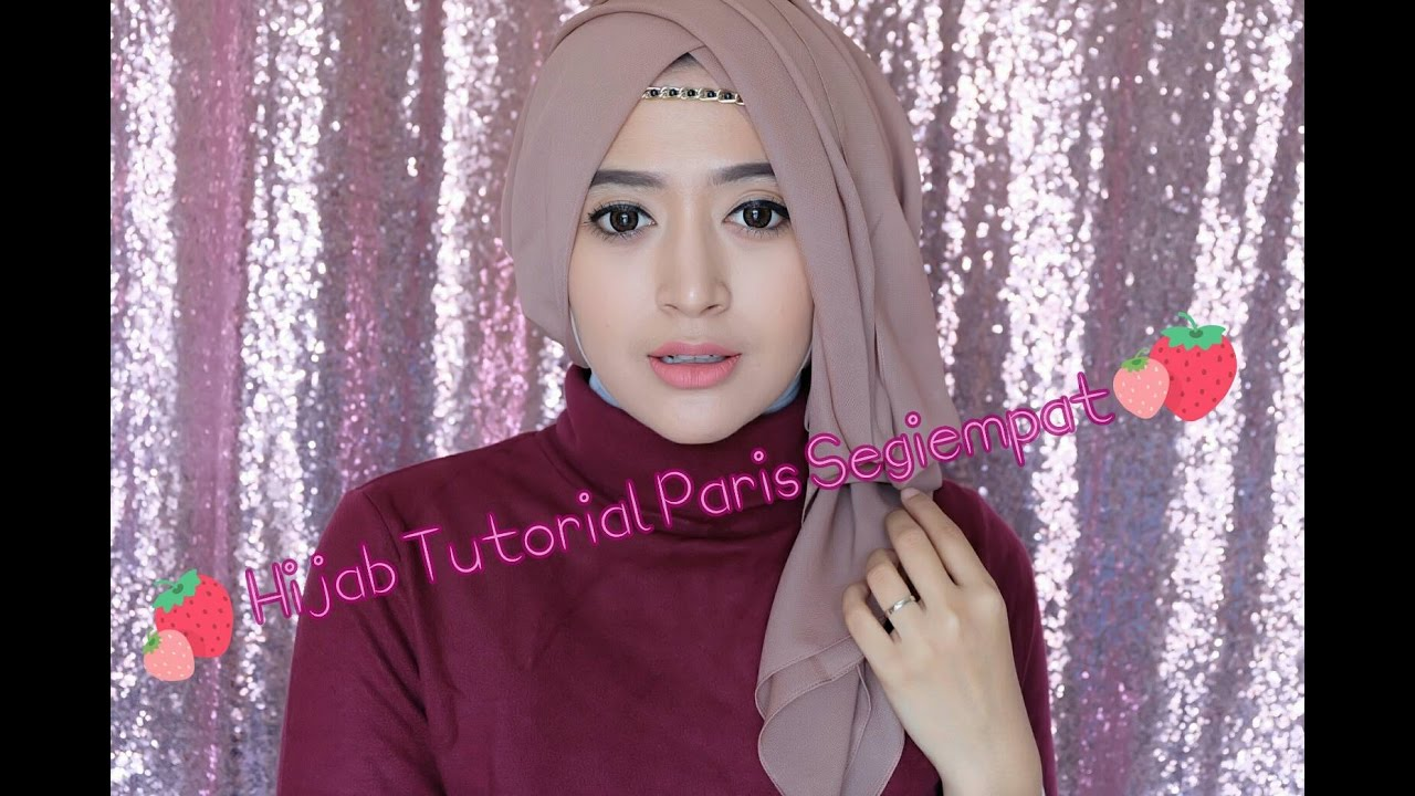 tutorial hijab terbaru 2017 - tutorial hijab paris segi empat (semi
