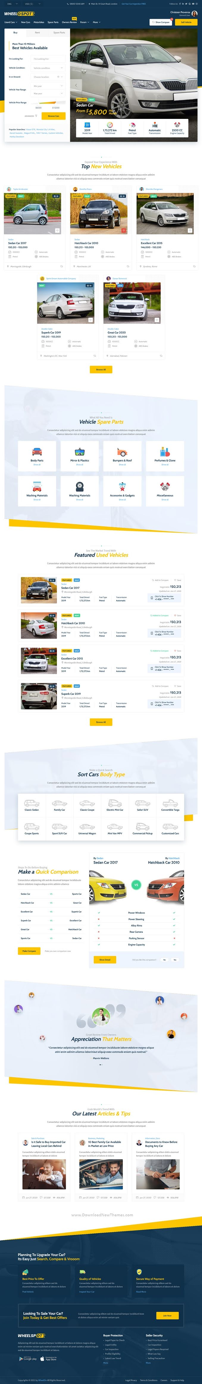 Vehicle Listing Template