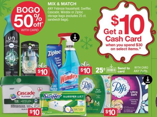 CVS Cash Card Lysol, Ziploc, Snuggle & Tide Deal $0.58 Each!