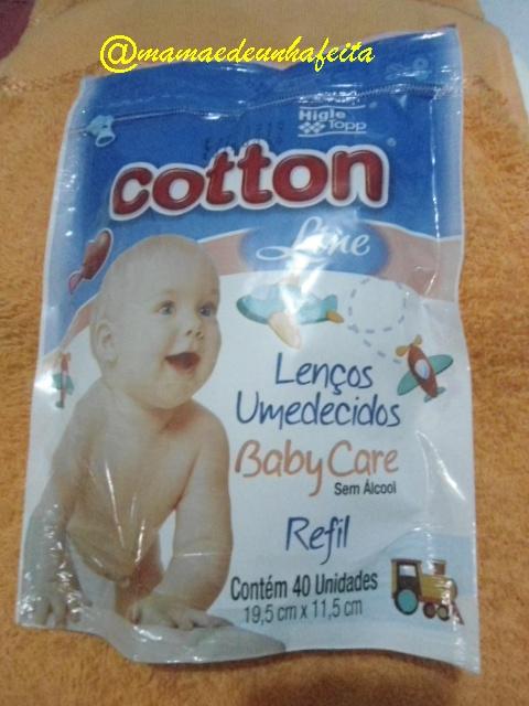 Produtos Cotton Line Baby Care- Lenços Umedecidos