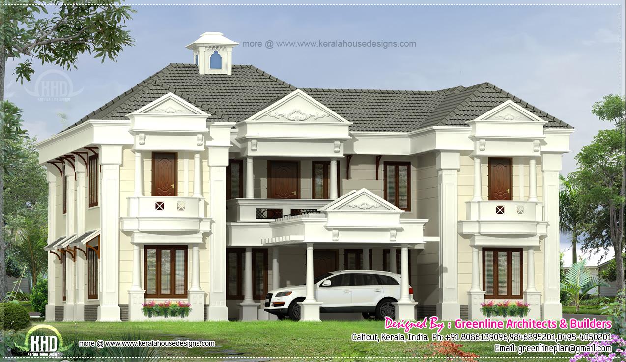 2800 Square Feet Home Exterior Kerala Home Design And