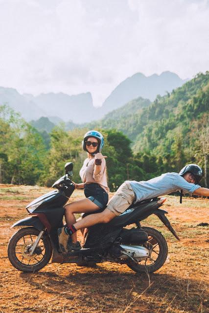 Karabon voyage | skuter | Laos