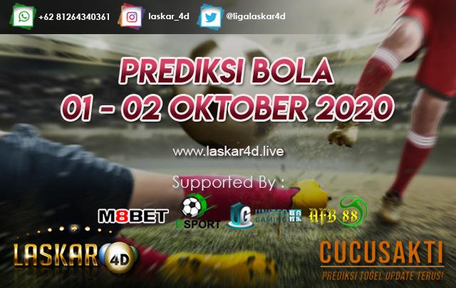 PREDIKSI BOLA JITU TANGGAL 01 - 02 OKTOBER 2020